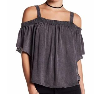 Free People Darling Off-the-shoulder Shirt Size M